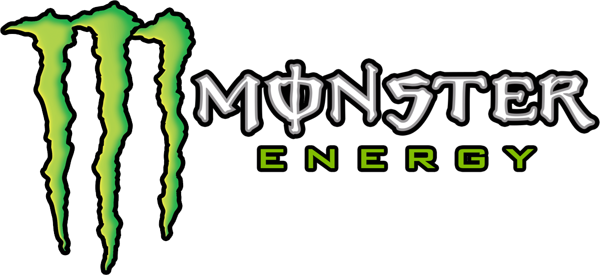 white and green monster png logo