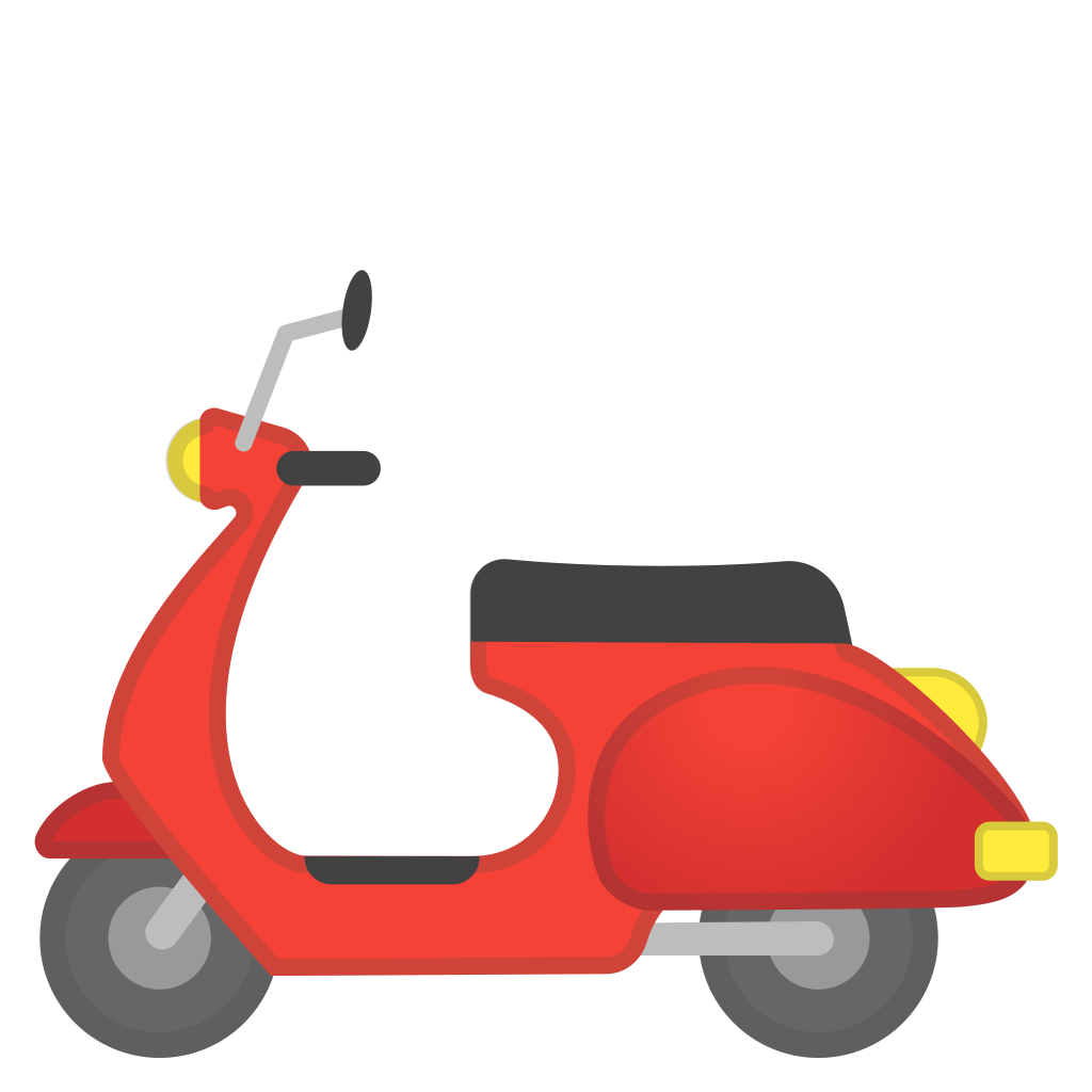 motor scooter icon noto emoji travel places iconset 20879