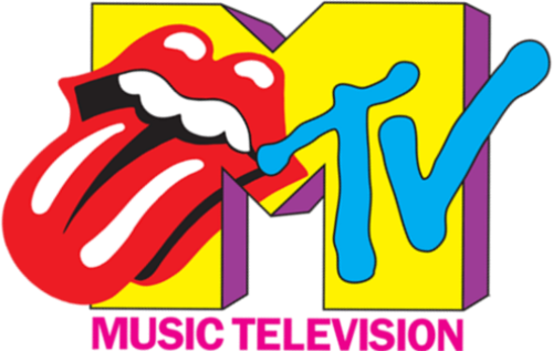 colorful mtv logo white png