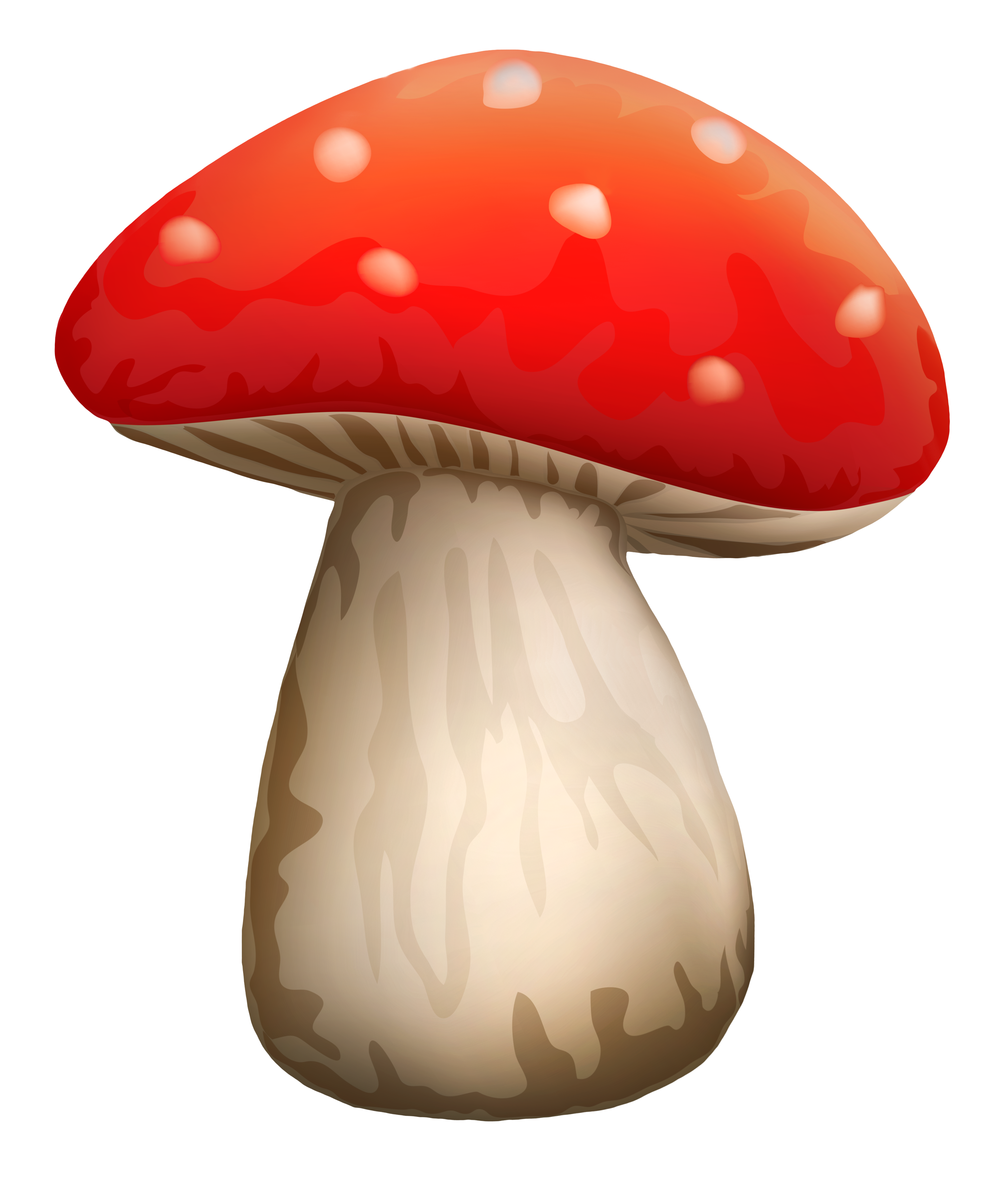 poisonous mushroom with white dots clipart clip #9073