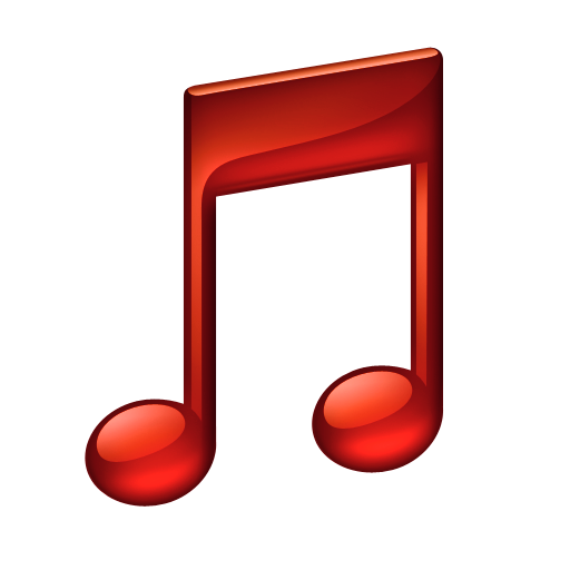 music notes png note red icon download png and ico formats #10089