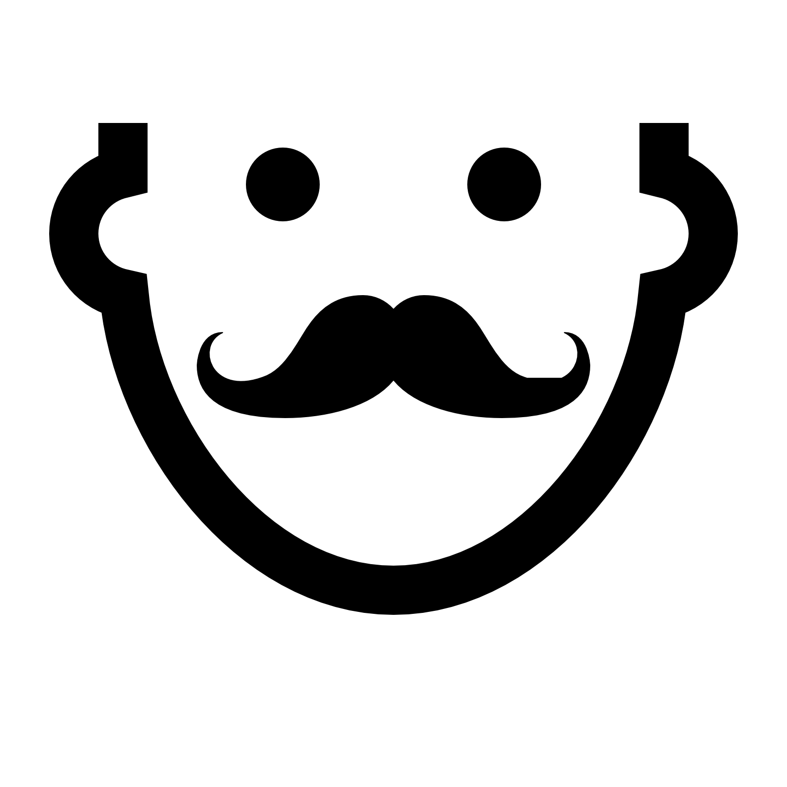 mustache icon download icons #15060