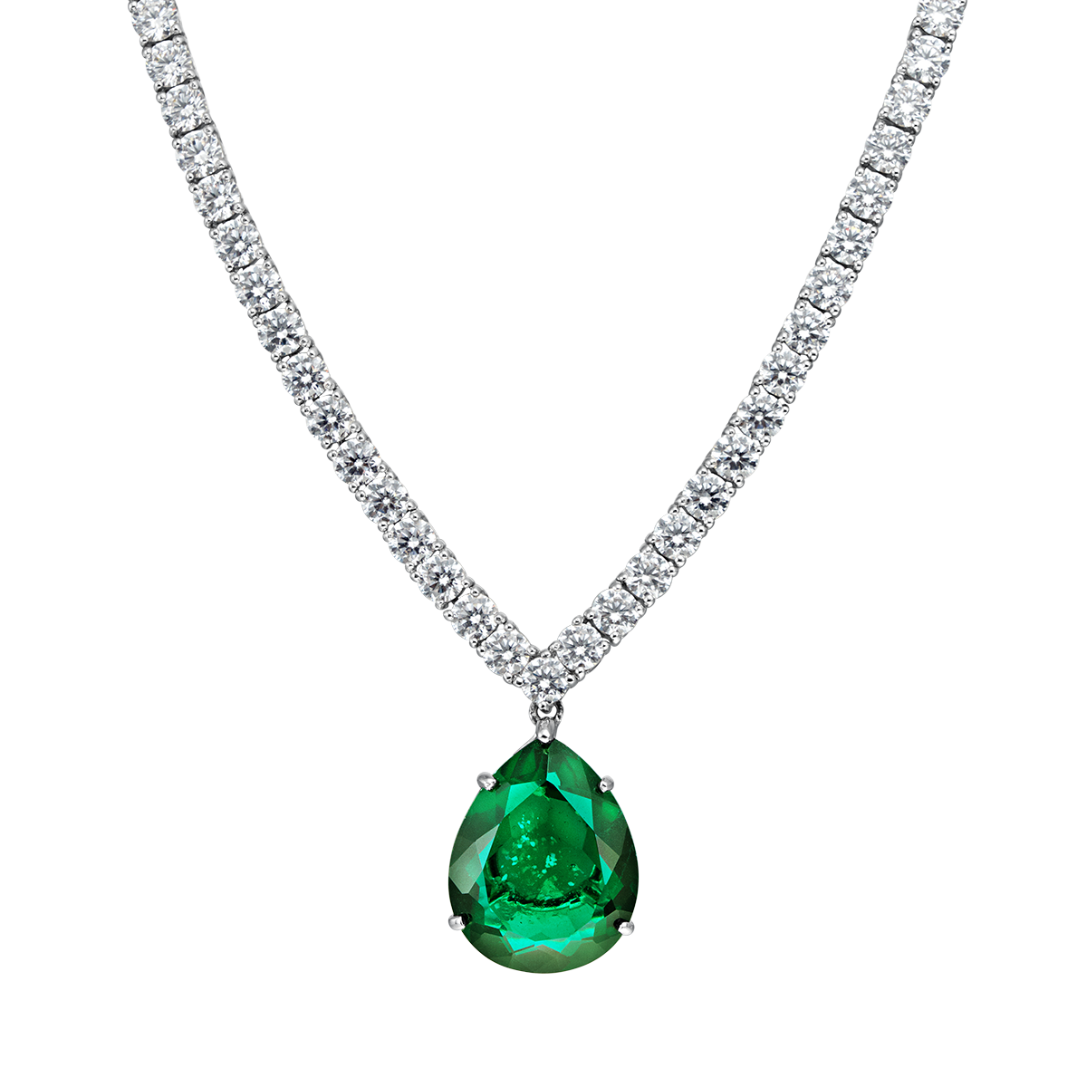 angelina formal green necklace ciro jewelry black tie #29344
