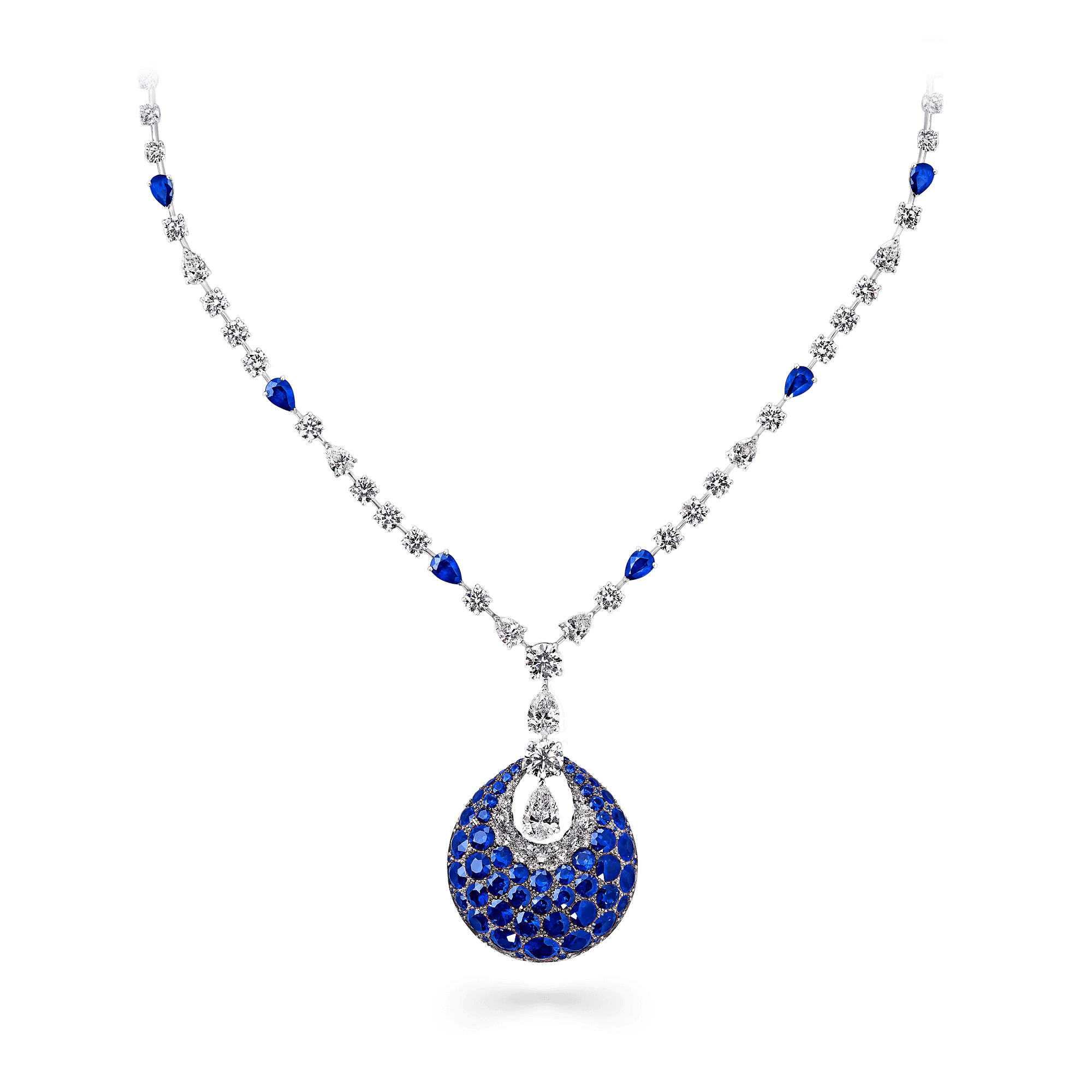 bomb necklace sapphire and diamond graff #29357