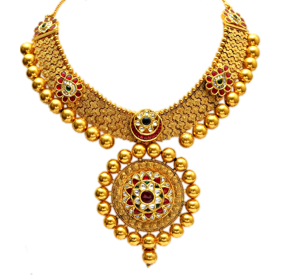 download gold necklace png picture for designing project transparent png images icons #29358