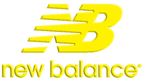 new balance shoe store yellow png logo #5487