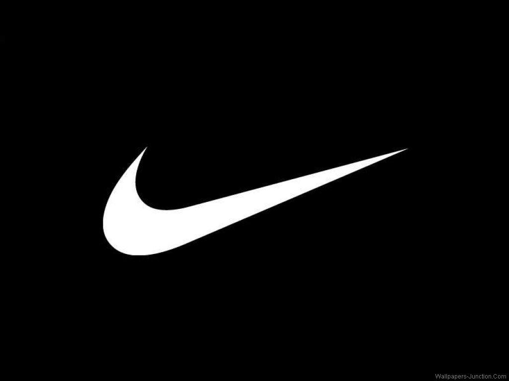 white nike emblem on black background #12