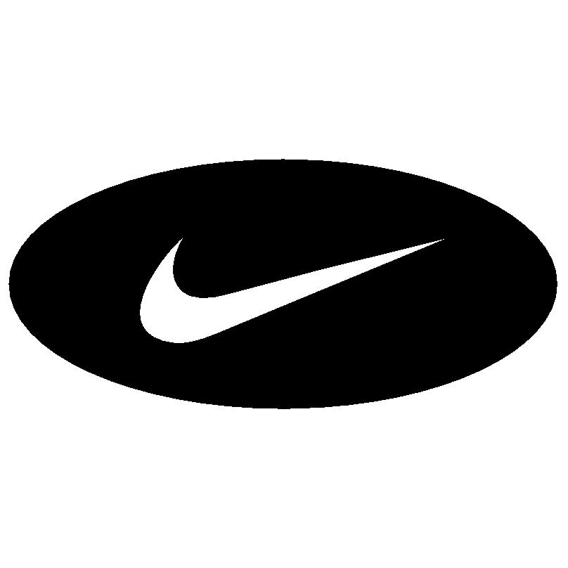 nike round logo on black #22