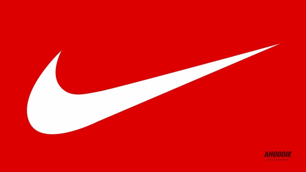 logo nike on red background #23