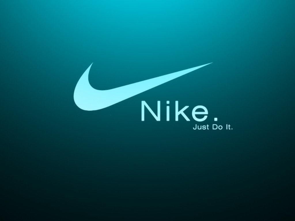 nike just do it logo on green black background #27