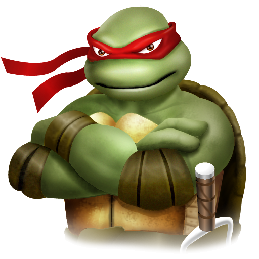 ninja turtle, rafael icon tmnt iconset yellow icon design #24242
