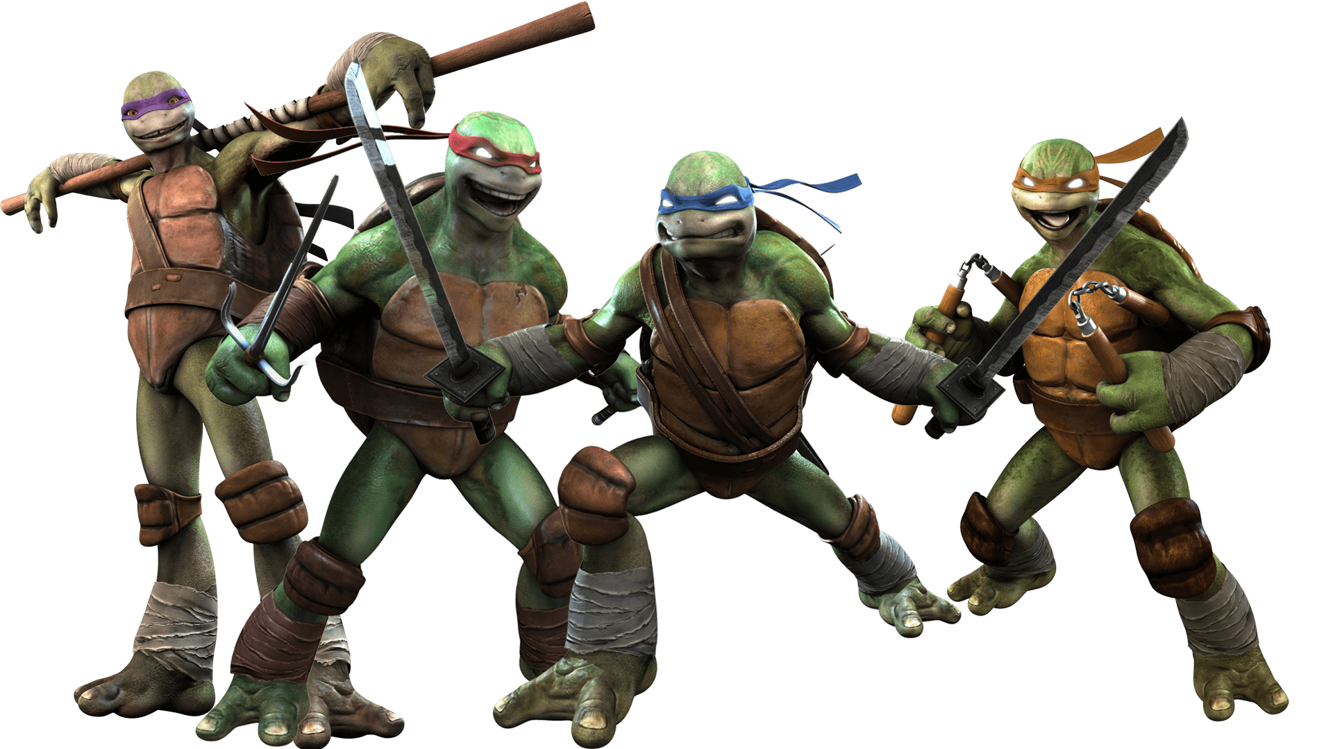 ninja turtle, tmnt fighting group transparent png stickpng #24277