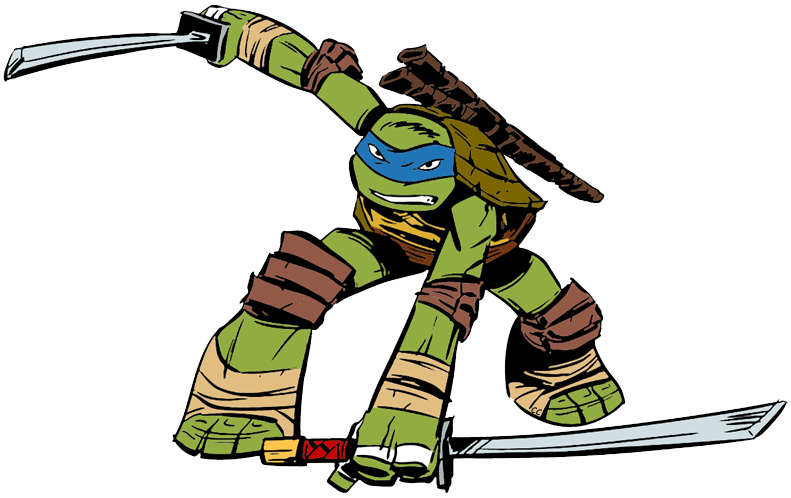 teenage mutant ninja turtle leonardo clipart collection #24289