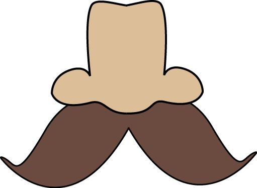 nose and mustache clip art nose and mustache image #36838