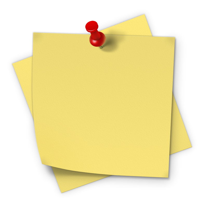 post note png cliparts #16795