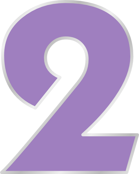 light purple number two clip art #34173