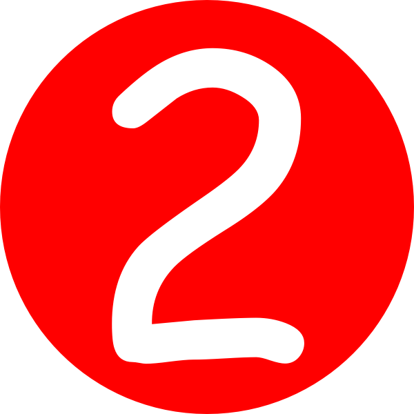 number 2 hq picture red rounded with number #34163