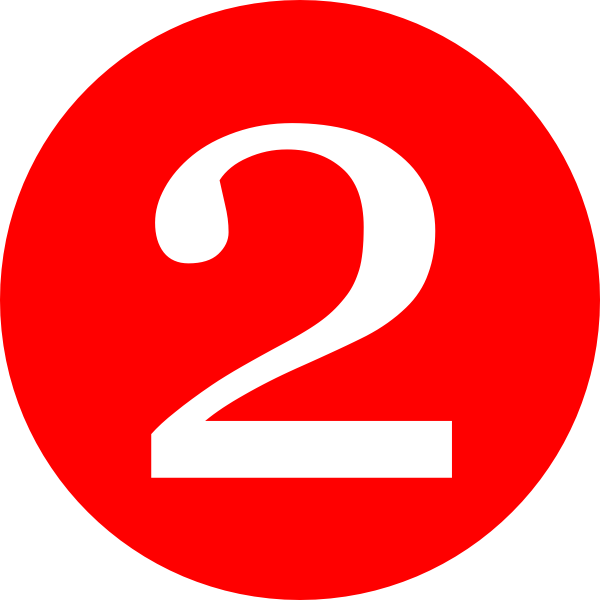 number 2 red rounded with number clip art hd #34154