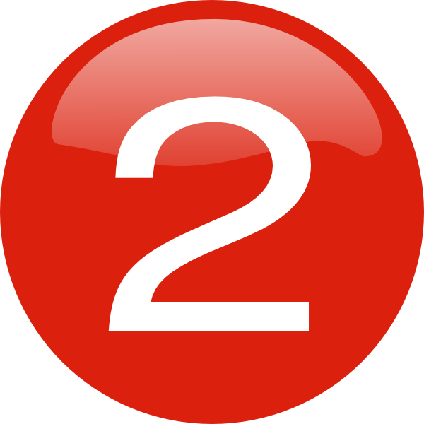 round 2 number button png red image #34143