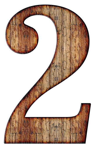wooden number 2, number two image #34167