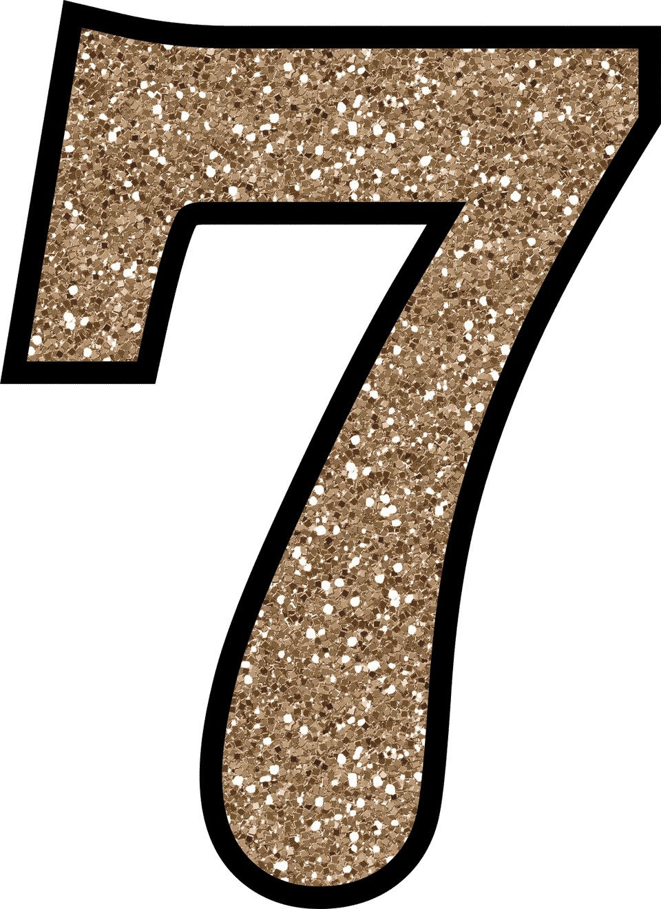 number 7 number digits transparent icon image #36578