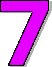 number 7 number purple signs symbol alphabets numbers outlined #36582