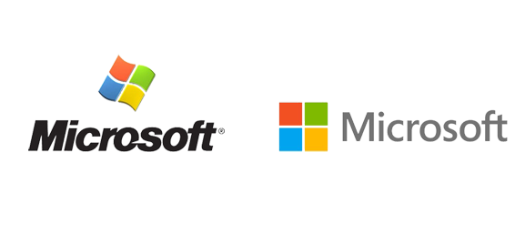 old and new microsoft logo png #2401