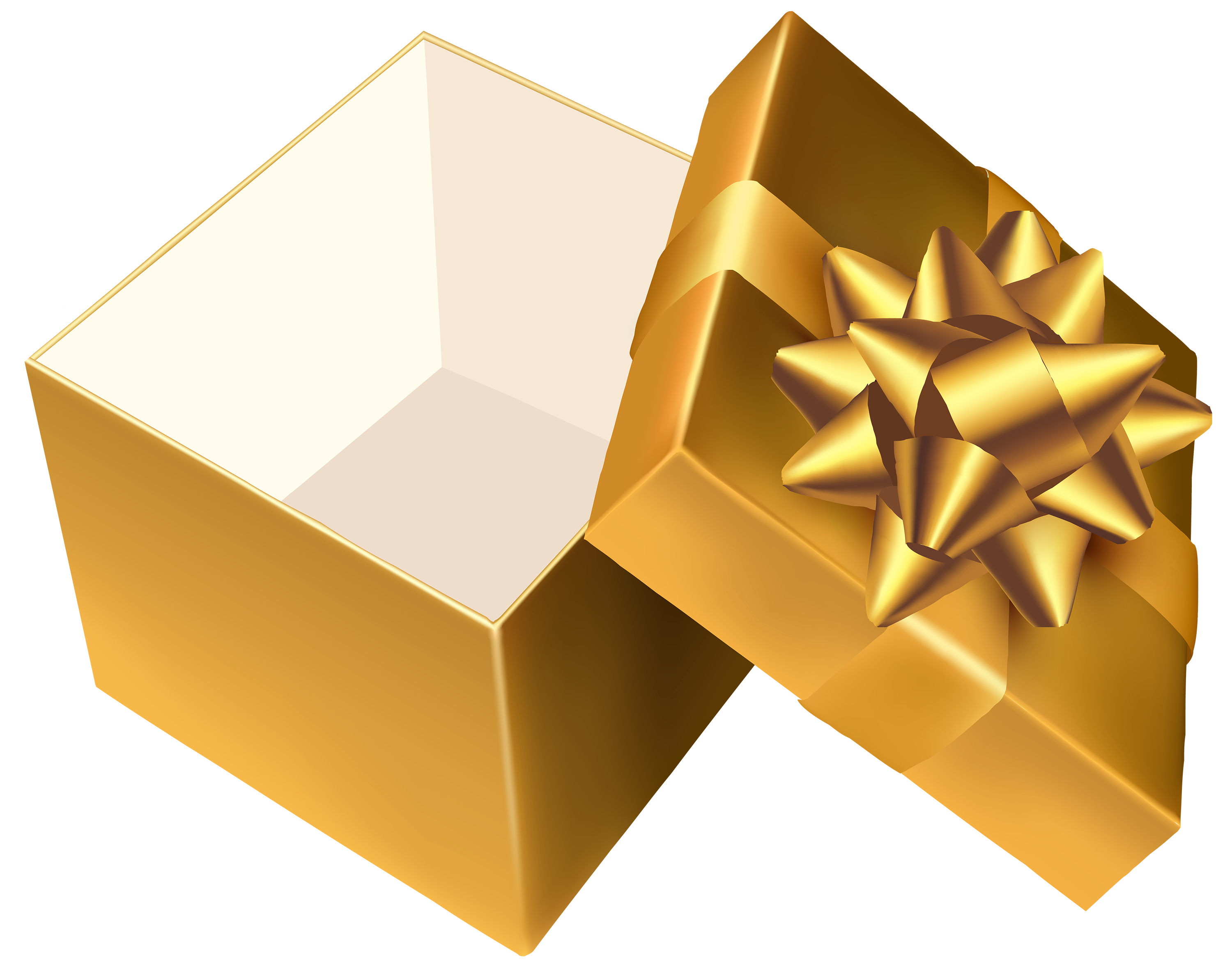 gold open gift png clipart best web clipart #31491