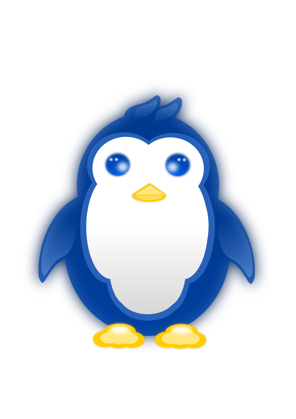 openclipart, clipartist clip art jobox penguin linux scallywag #31471