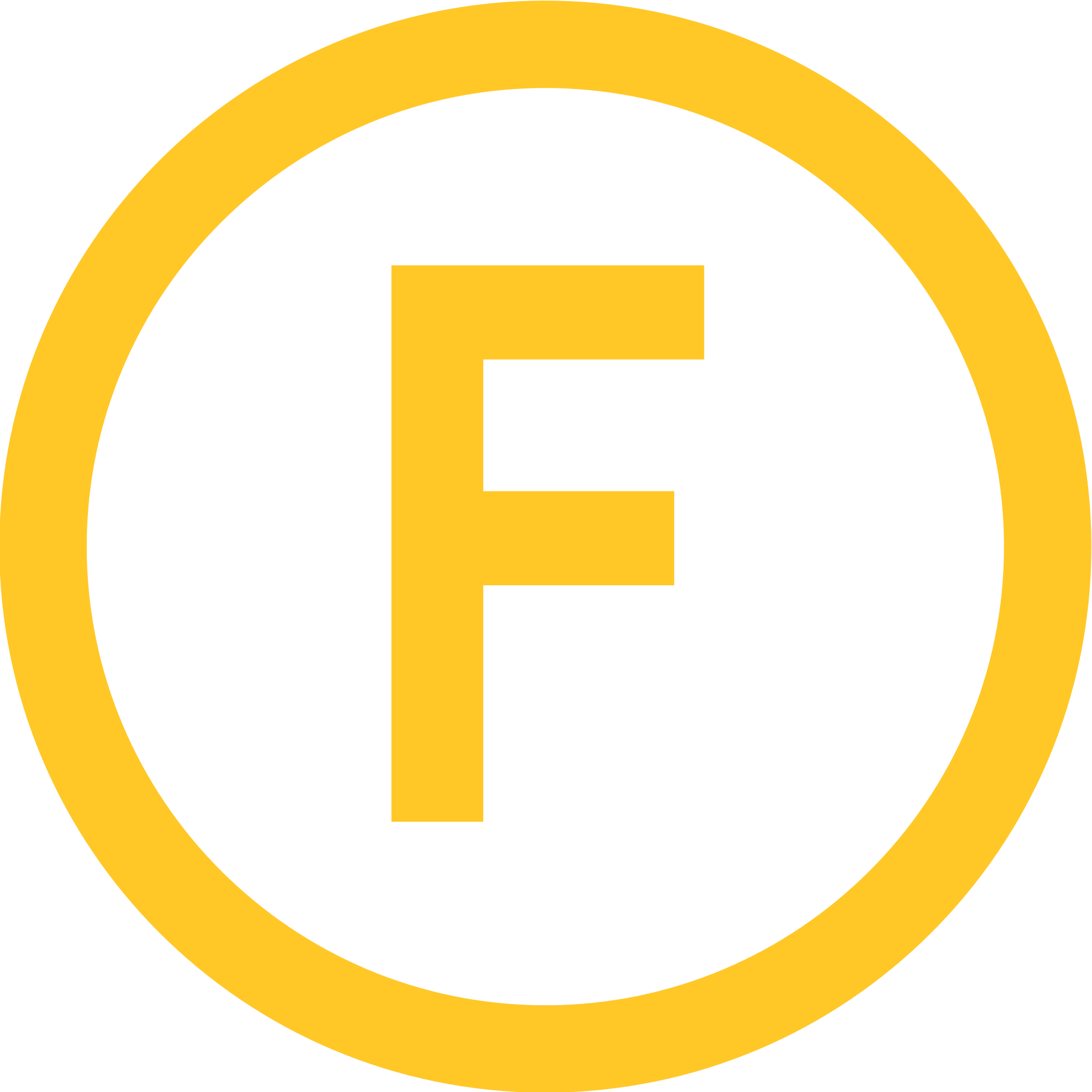 Orange circle F Logo ligne F Narbonne png #1563