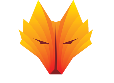 orange fox head for logo png