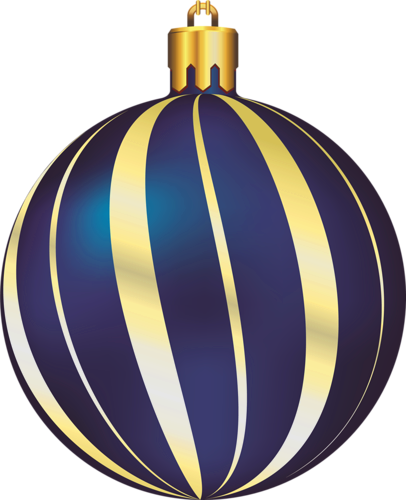 large transparent christmas gold and blue ornament #37985
