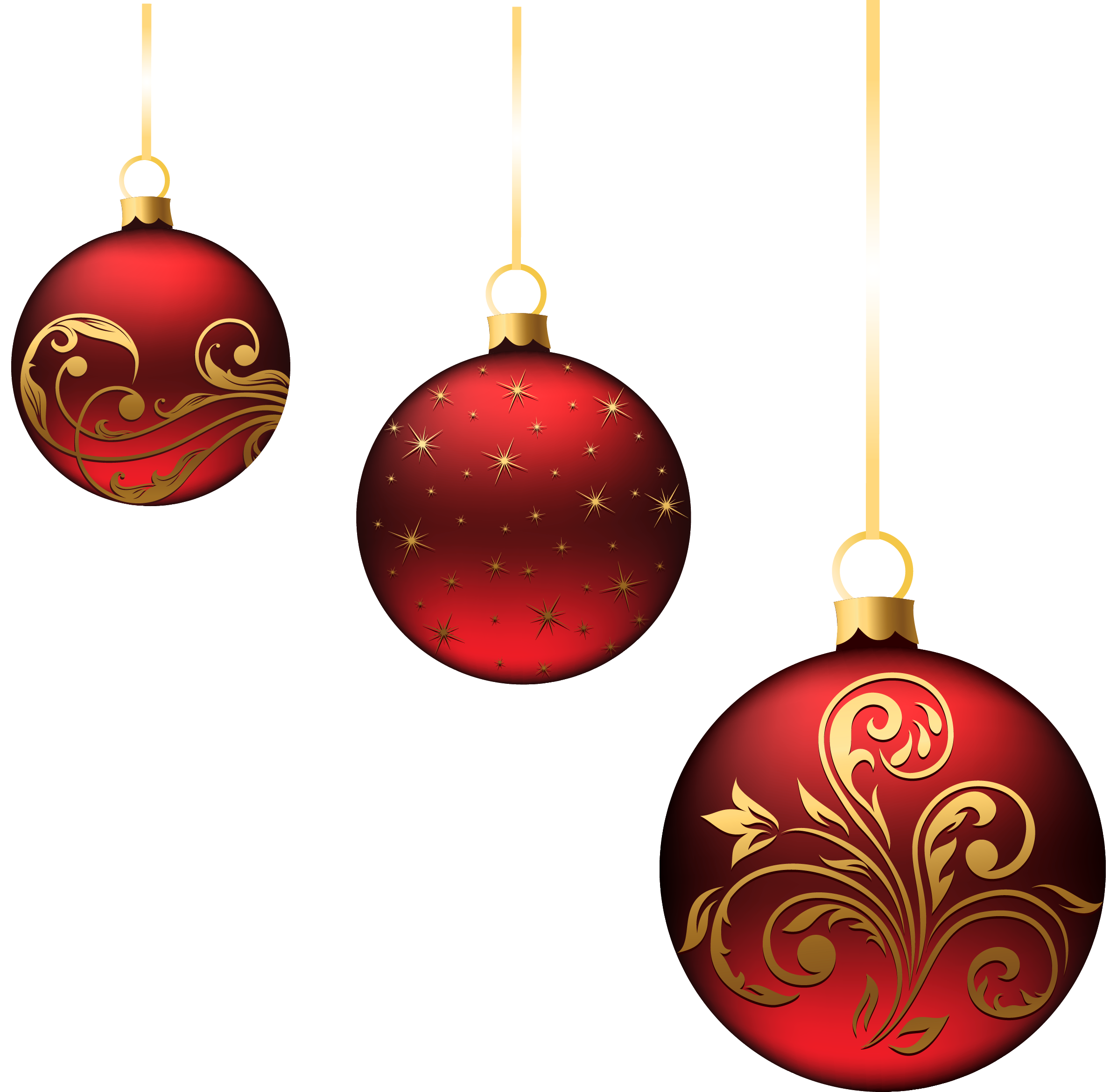 ornament christmas red balls ornaments png picture projekty #37960