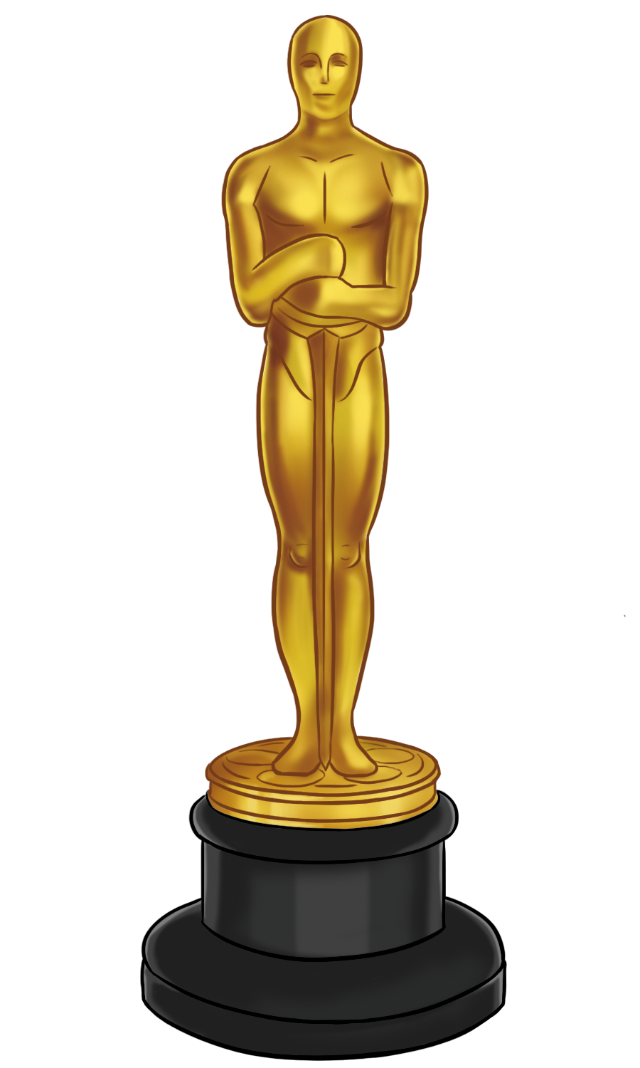 oscar man awards golden png #38930
