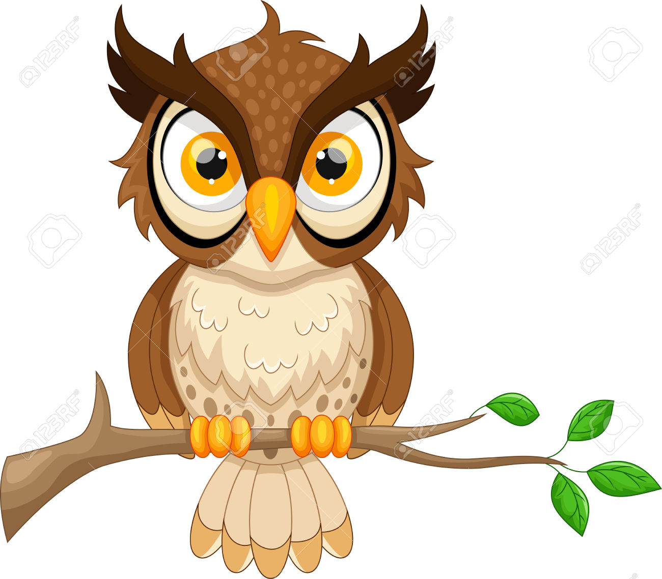 brown hawk owl clipart wisdom pencil and color brown #31641