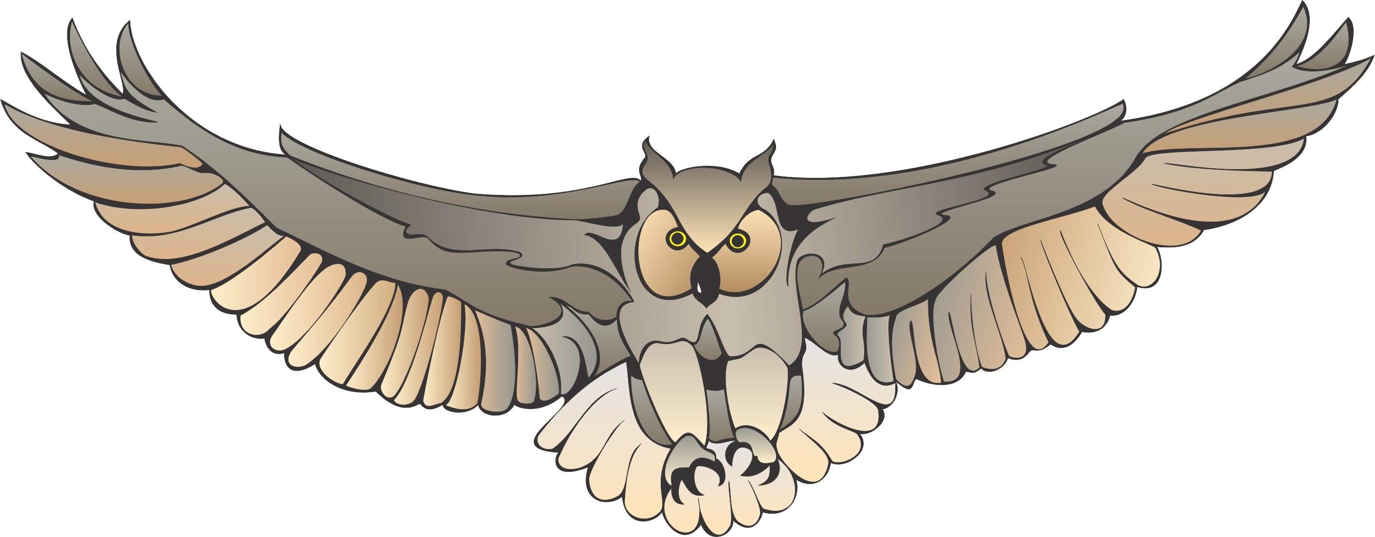 owl clipart fly pencil and color owl clipart fly #31639