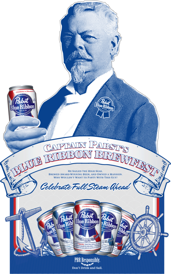 captain pabsts blue ribbon brewfest png logo 5938