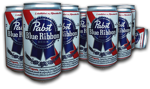 pics for u0026gt; pabst blue ribbon can png