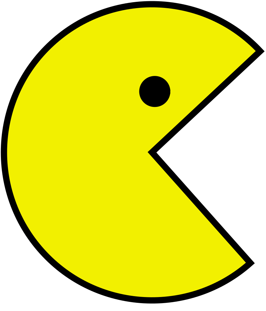 pacman, file pac man svg wikimedia commons #25786