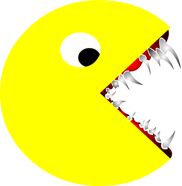 scary pacman pac man vector graphic pixabay #25803
