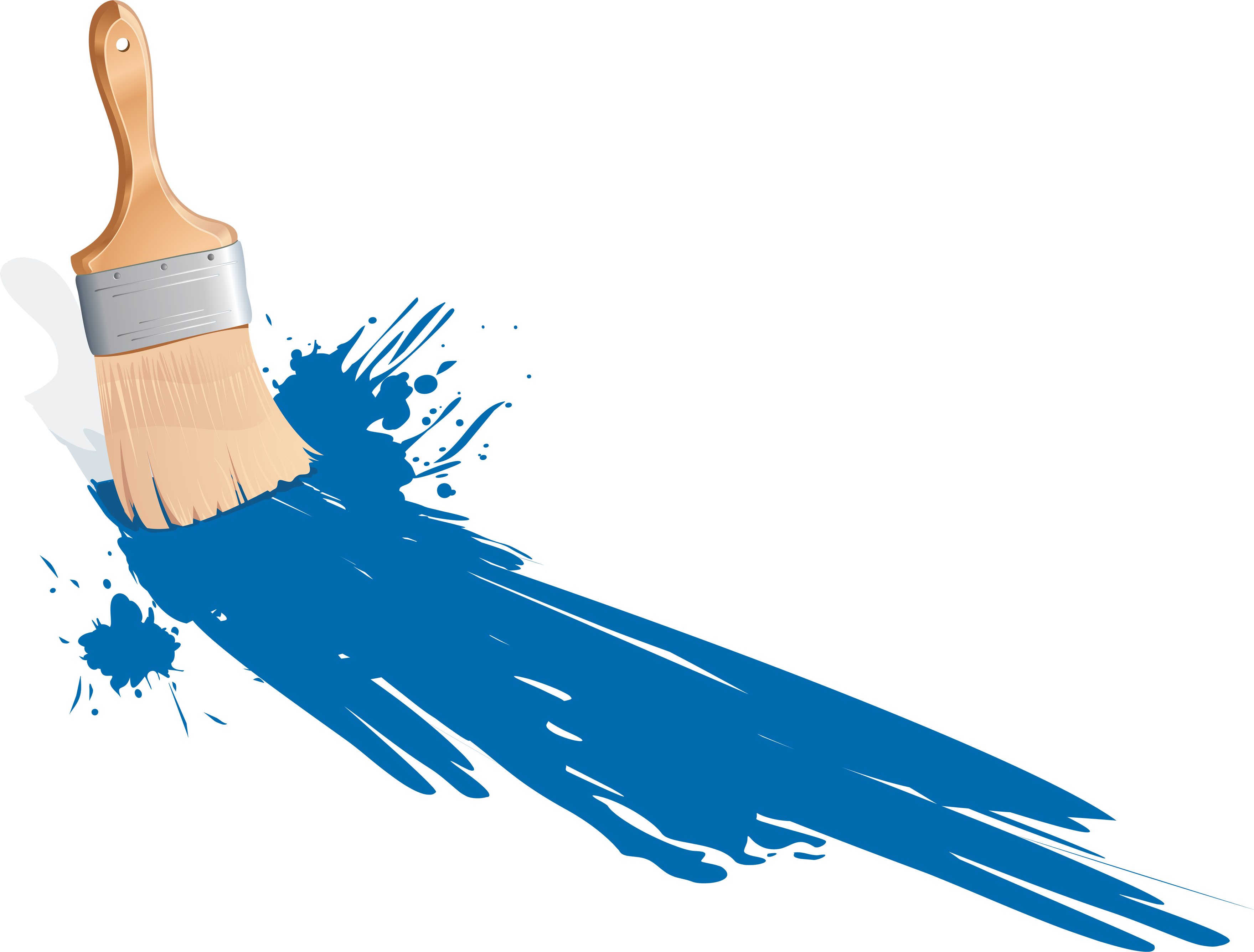download blue paint brush image image #8743
