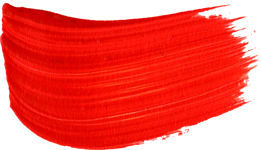 red paint brush strokes transparent #8737