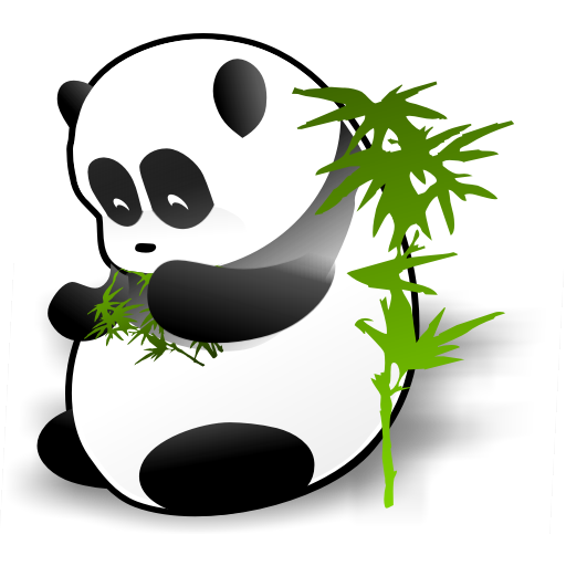 giant panda icon panda dock icons softiconsm #19869