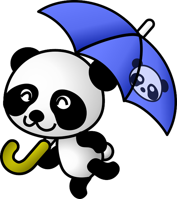 panda animal rain vector graphic pixabay #19865