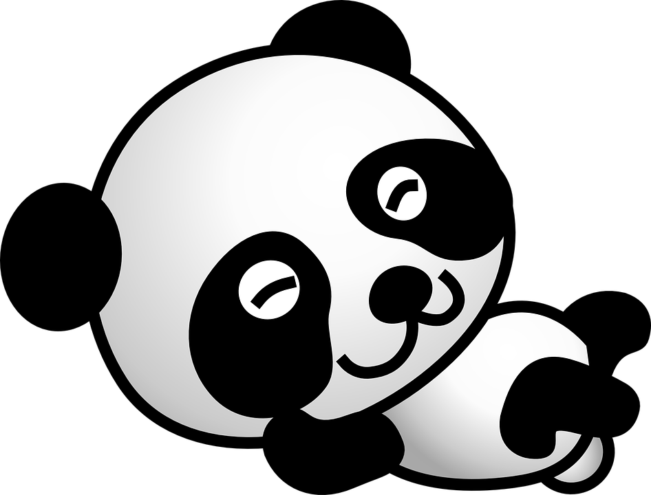 panda bear cartoon vector graphic pixabay #19969