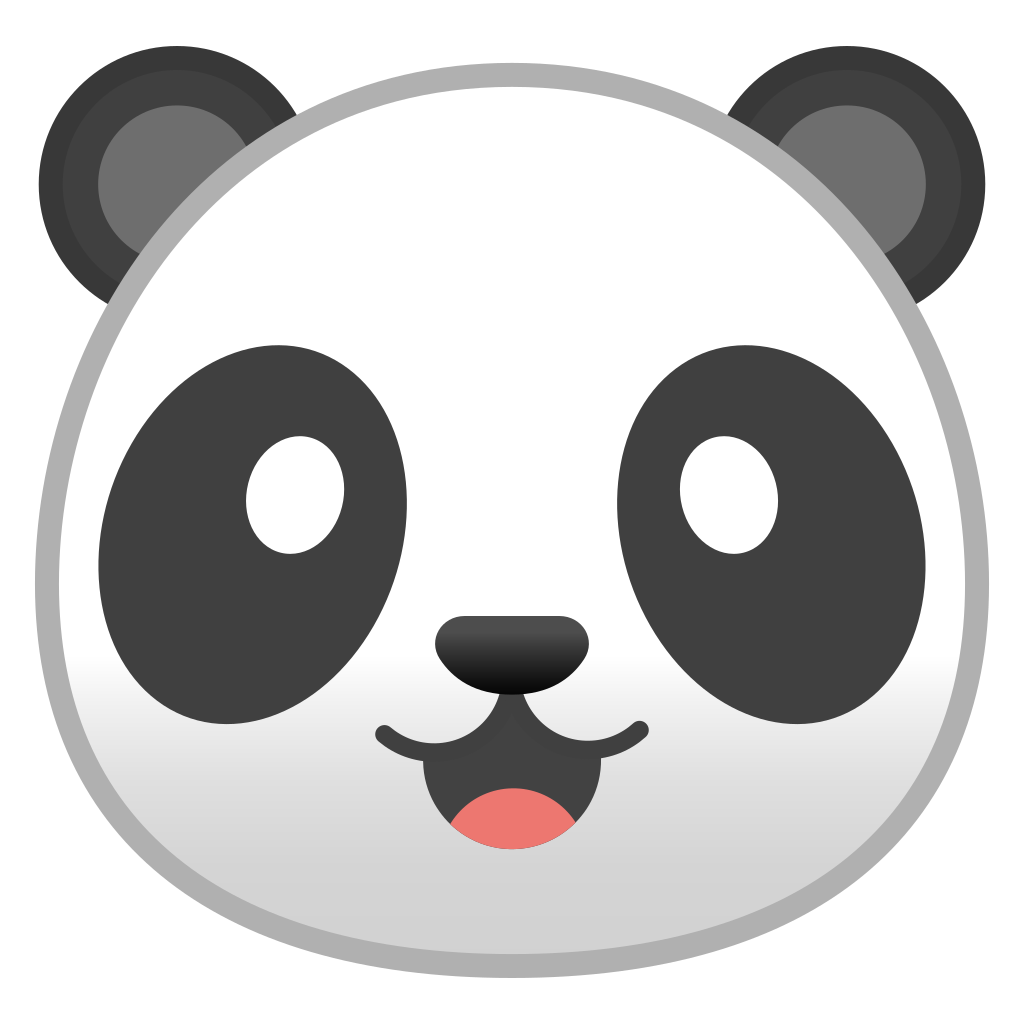 panda face icon noto emoji animals nature iconset google #19895