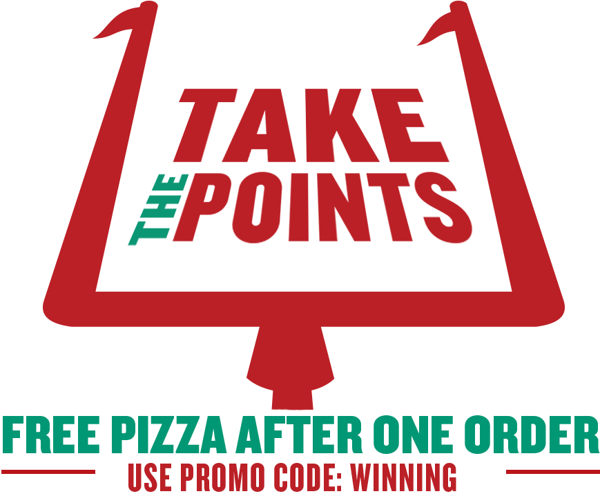 the take points pizza after one order png logo #5079