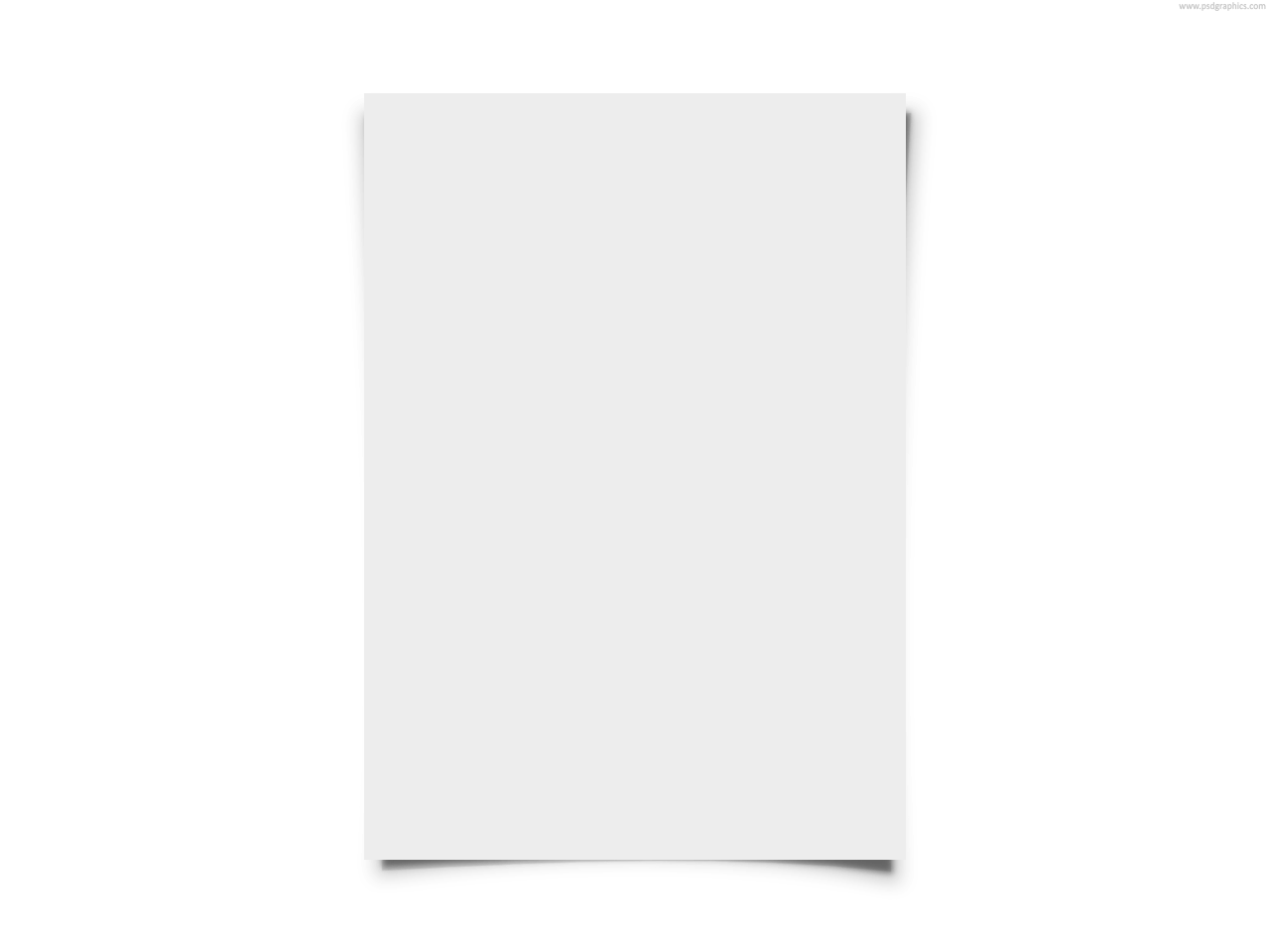 blank white paper psdgraphics #14685