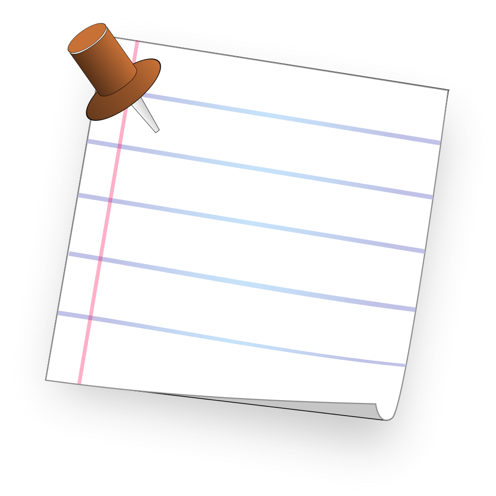 file ruled paper note with pin svg wikimedia commons #14696