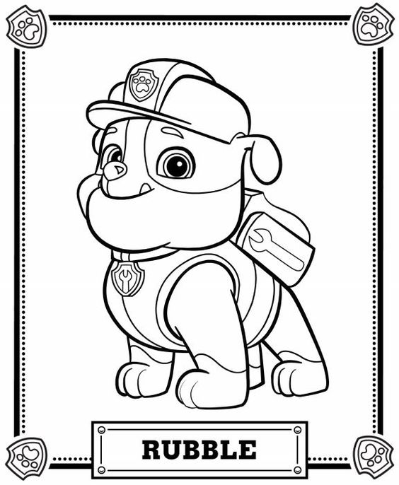 paw patrol coloring pages #2628